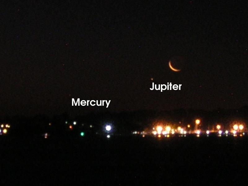 Jupter, Mercury and the Moon