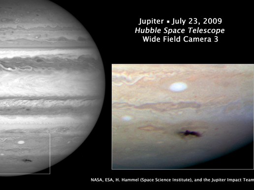 Discovery image of the impact on<br /><br />Jupiter