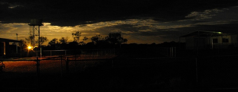 Moonlight over Yulga Jinna community, Western Australia