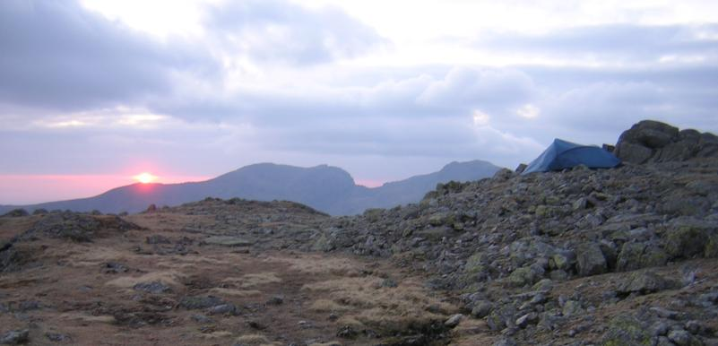 Camping on the Crinkle Crags