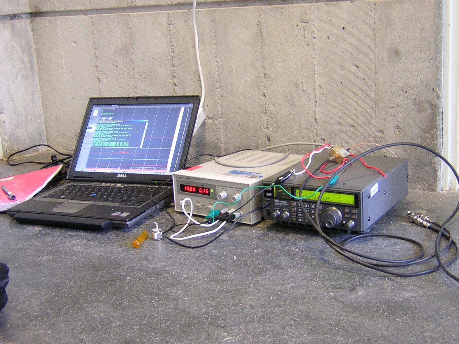 Meteor test setup at Curtin