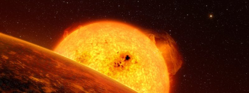 Artists impression of the exoplanet Corot-7b